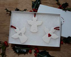 Angels Set of 3 Mix Red Heart