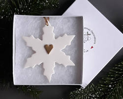 Snowflake Large Gold Heart