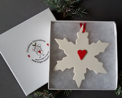 Snowflake Large Red Heart